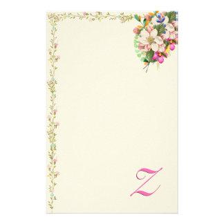 Papelaria Buquê floral do monograma de Z