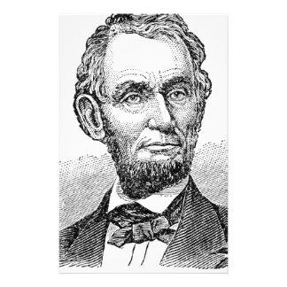 Papelaria Busto de Abe Lincoln do vintage