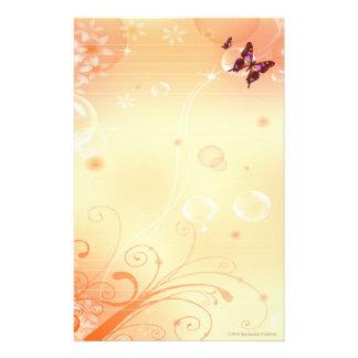 Papelaria Butterflys e bolhas estacionários