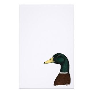 Papelaria Cabeça de Drake do pato selvagem