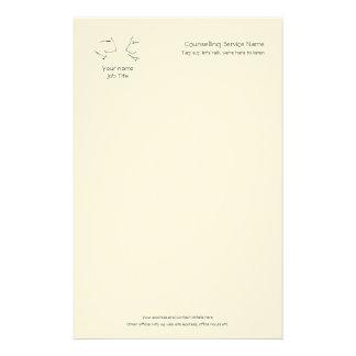 Papelaria Cabeças de fala, logotipo da linha-arte de uma