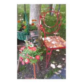 Papelaria Cadeira de jardim alaranjada brilhante