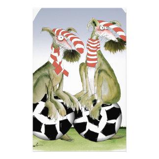 Papelaria cães do futebol dos vermelhos quando sábado vier