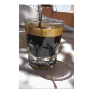 Papelaria Café do café com a casca do rum, do açúcar e de