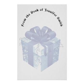 Papelaria Caixa de presente azul com fita azul