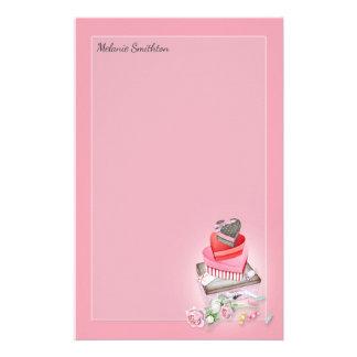 Papelaria Caixas rosas vermelha dos doces do coração dos