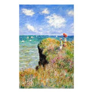 Papelaria Caminhada de Clifftop em Pourville - Claude Monet