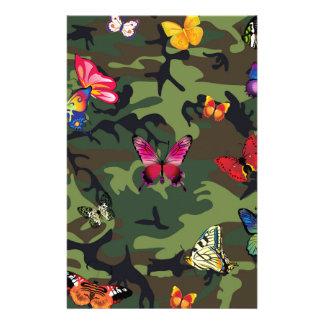 Papelaria camuflagem da borboleta