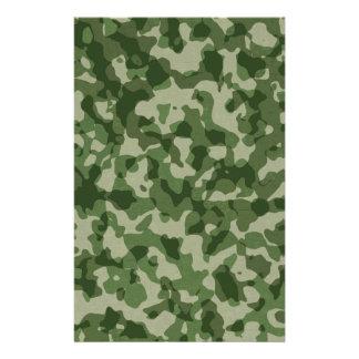 Papelaria Camuflagem militar do verde da selva