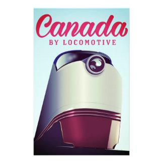 Papelaria Canadá pelo poster locomotivo do trem dos anos 50