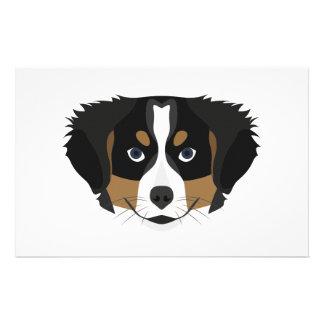 Papelaria Cão de montanha de Bernese da ilustração