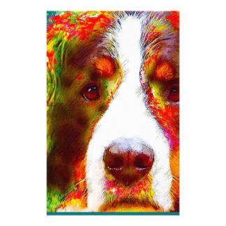 """Papelaria Cão de montanha de Bernese do """"RELÓGIO"""" -"""