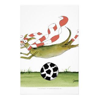 Papelaria cão do futebol dos vermelhos