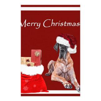 Papelaria Cão great dane do Natal