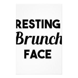 Papelaria Cara de descanso da refeição matinal
