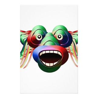 Papelaria Cara engraçada futurista do caráter do monstro