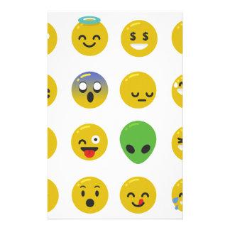 Papelaria Cara feliz de Emoji