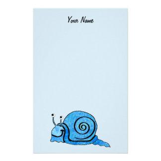 Papelaria Caracol azul dos desenhos animados felizes do