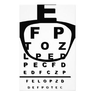 Papelaria Carta de teste do olho de Blurr