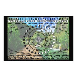 Papelaria Carta pagã do pêndulo de Wiccan