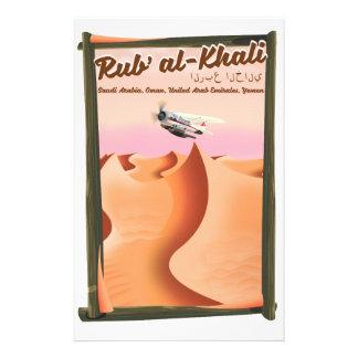 Papelaria Cartaz das férias de Khali Arábia Saudita do al de