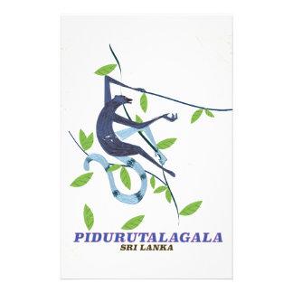 Papelaria Cartaz do viagem de Pidurutalagala Sri Lanka