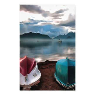Papelaria Cascas dos barcos e do Seascape do inverno de