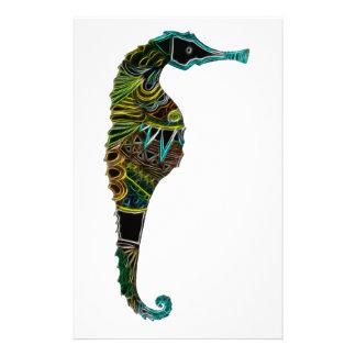 Papelaria Cavalo marinho de néon