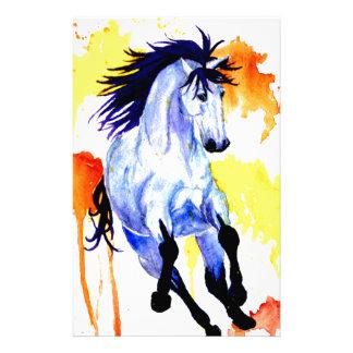 Papelaria Cavalo selvagem da aguarela