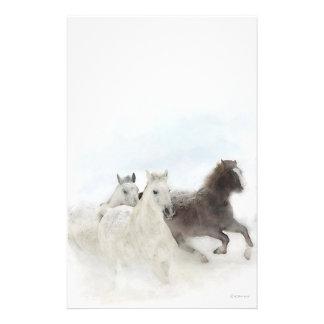 Papelaria Cavalos da neve - papel de carta