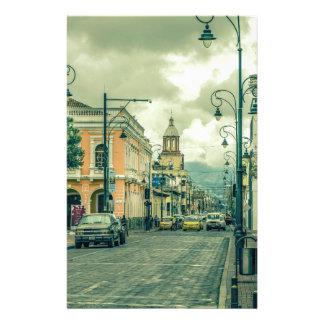 Papelaria Cena urbana Center histórica na cidade de Riobamba