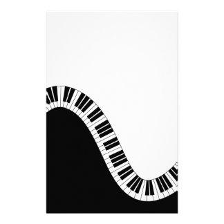 Papelaria Chaves curvadas onduladas do piano