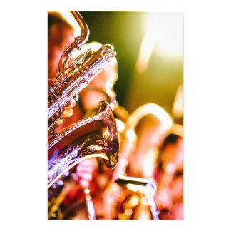 Papelaria Chifres dos saxofones dos instrumentos musicais da