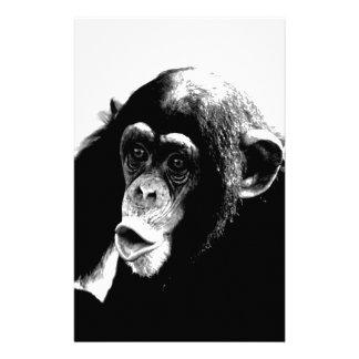 Papelaria Chimpanzé branco preto