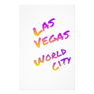 Papelaria Cidade do mundo de Las Vegas, arte colorida do