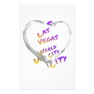 Papelaria Cidade do mundo de Las Vegas, coração