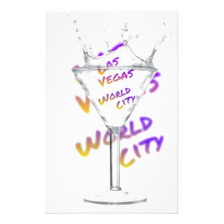 Papelaria Cidade do mundo de Las Vegas, vidro de água