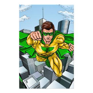 Papelaria Cidade do super-herói do vôo da banda desenhada