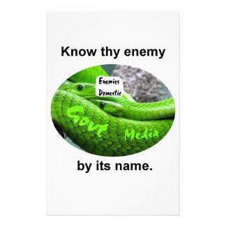 Papelaria Cobra da mamba - conheça Thy inimigo por seu nome