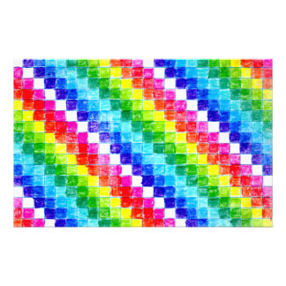 Papelaria Colorido em quadrados do papel de gráfico