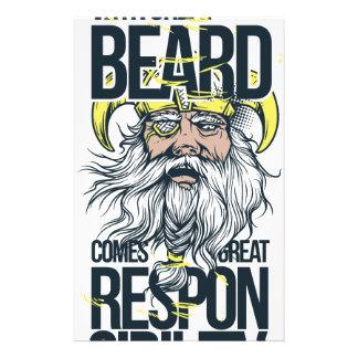 Papelaria com grande barba vem a grande responsabilidade