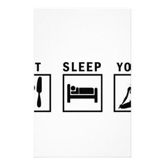 Papelaria coma a ioga do sono