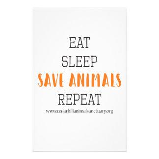 Papelaria Coma animais das economias do sono