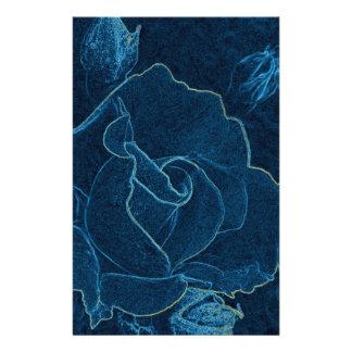 Papelaria contorno do rosa do azul