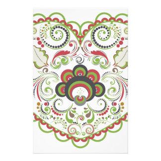Papelaria Coração floral colorido