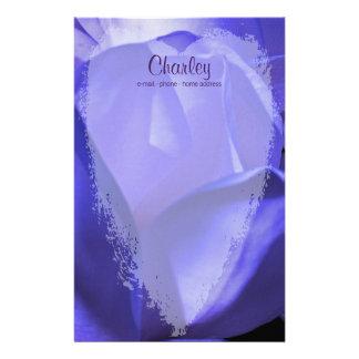 Papelaria Coração na flor azul da magnólia - personalizada