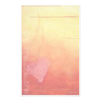 Papelaria Coração-Papel de carta do por do sol