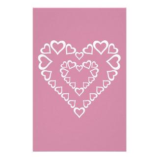 Papelaria Corações brancos do coração