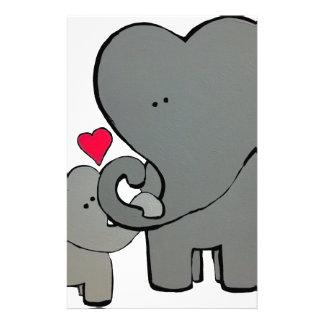 Papelaria Corações do elefante - um amor de Unforgetable