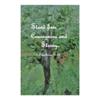 Papelaria Corajoso do suporte e forte firmes